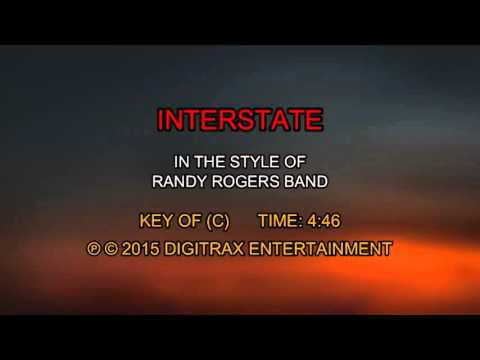 Randy Rogers Band - Interstate (Backing Track)