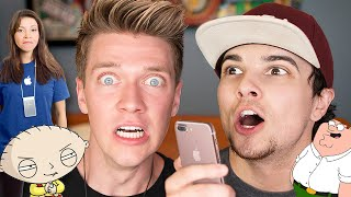 Pranking APPLE EMPLOYEE with iPhone 7 FAMILY GUY CARTOON Voice Impressions | Mikey Bolts