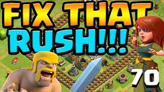 QUEENLESS MINER FARMING!  Let's FIX that RUSH ep70 | Clash of Clans