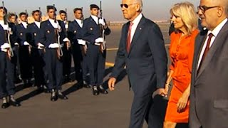Raw: Biden Arrives in Morocco With Grand Welcome
