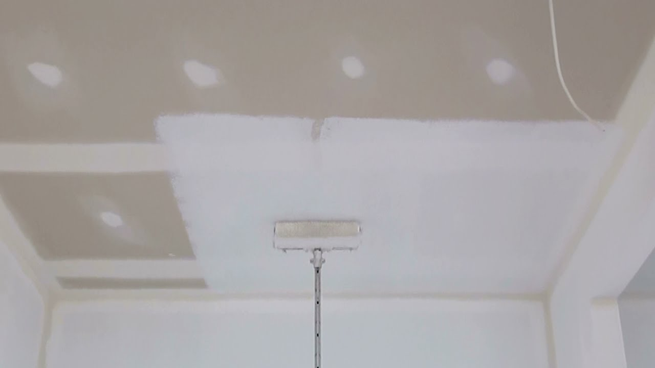 How to paint plaster ceiling for How to paint a ceiling
