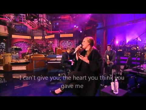 Adele - Turning Tables (OFFICIAL VIDEO LYRICS) Live at