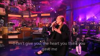 Adele Turning Tables OFFICIAL VIDEO LYRICS Live At David Letterman Show