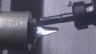 Пятиосевая обработка лопатки на токарно фрезерном центре