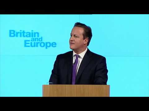 """Cameron: Pledges """"In-Out"""" Referendum on EU"""
