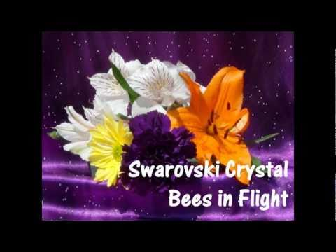 Swarovski Crystal In Flight Bees