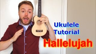 Hallelujah (Leonard Cohen/Jeff Buckley/Alexandra Burke) Ukulele Tutorial