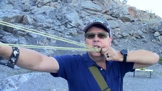 How to shoot a Slingshot-Wrist Rocket-Catapult