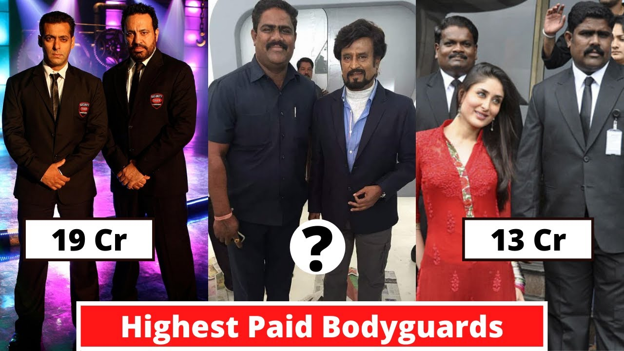 New List Of 9 Highest Paid Bodyguards Of Bollywood Actors