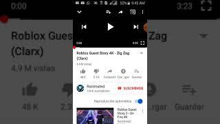 Reaktion auf roblox Song Gastgeschichte (clarx zick zag)
