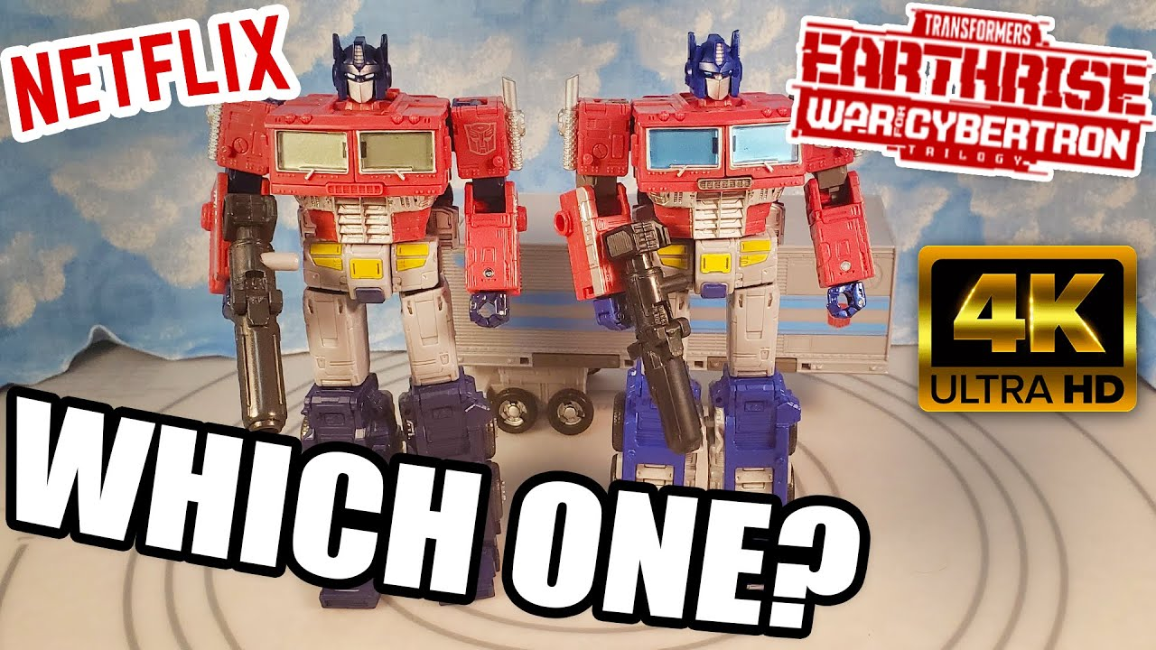 Download EATHRISE OPTIMUS VS NETFLIX OPTIMUS COMPARISON, Which One is Better WFC TRANSFORMERS REVIEW