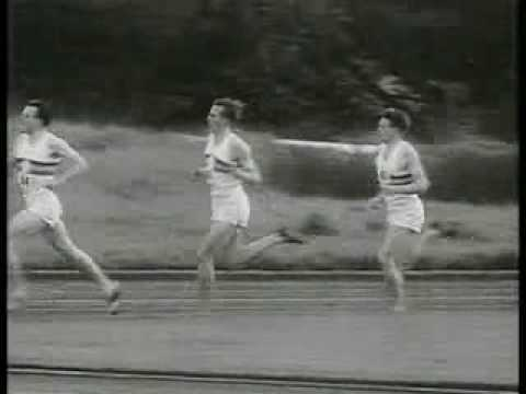Roger Bannister breaks the four minute mile