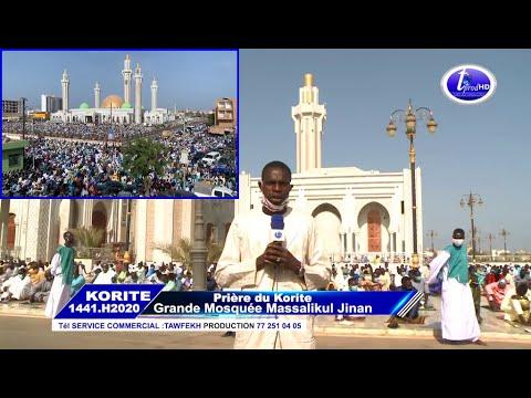 L'Aïd El Fitr Korité à La Grande Mosquée Massalickoul Djinnane Dakar Sur Tawfekh Production