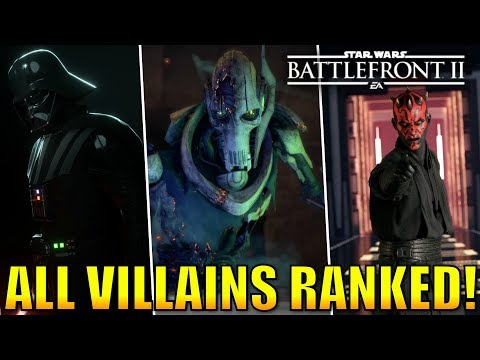 Every Villain Ranked from Worst to Best! - Star Wars Battlefront 2 thumbnail