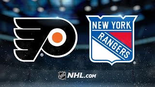 Giroux, Lyon lead Flyers past Rangers, 7-4