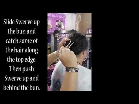 Swerve U Pin to hold up bun