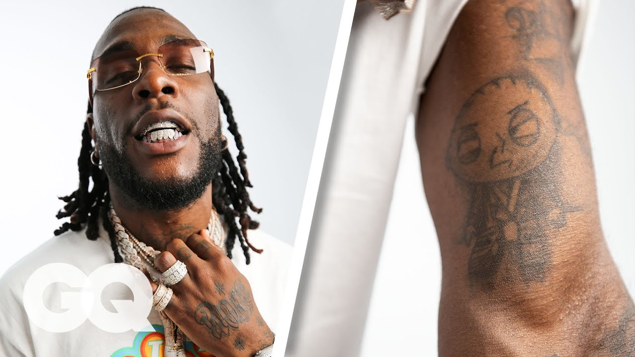 Burna Boy Breaks Down His Tattoos