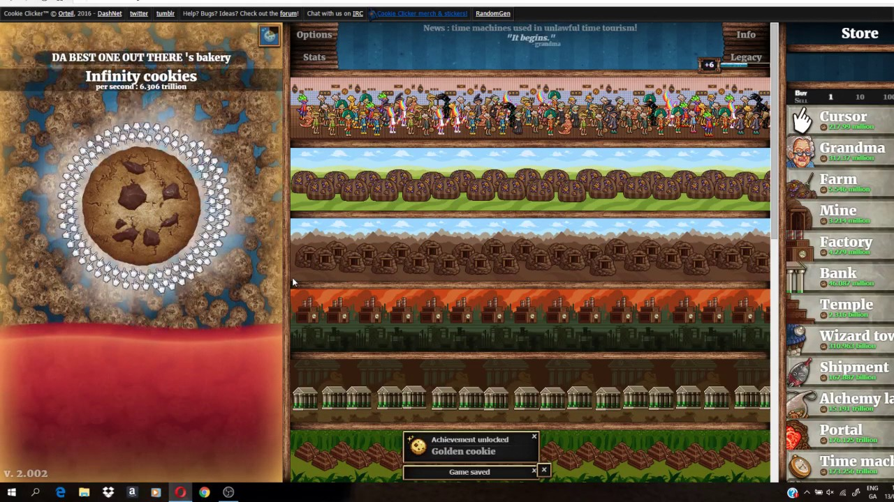 how to make infinite cookies in cookie clicker