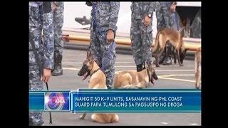 Mahigit 30 K-9 units, sasanayin ng PHL Coast Guard para sa pagtulong sa pagsugpo ng droga