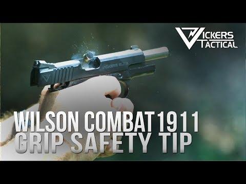 Wilson Combat 1911 Grip Safety Training Tip