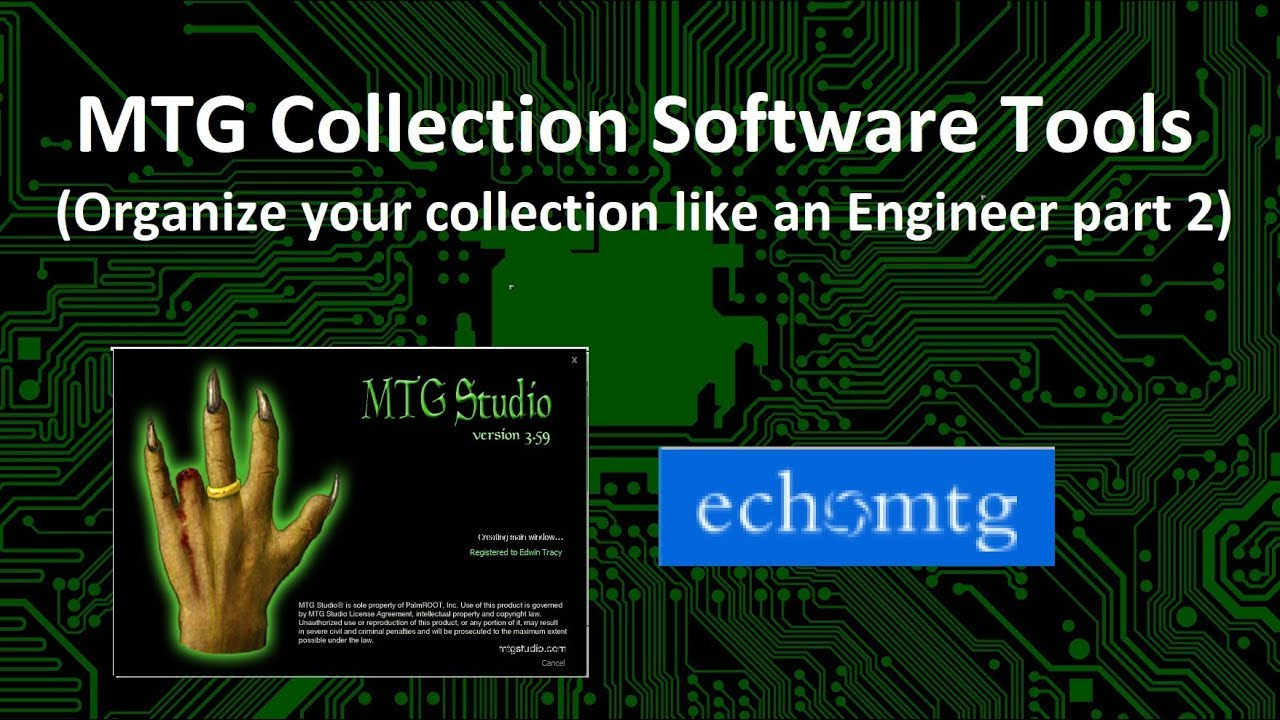 MTG Collection Software Tools (Organize your collection like an Engineer  part 2)