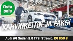 Käytetty: Audi A4 Sedan 2.0 TFSI Stronic (24 850€) - Kahvinkeitin ja faksi