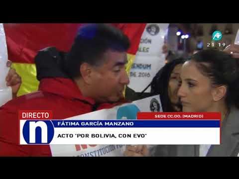 bolivianos en España exigen respeto al voto del soberano