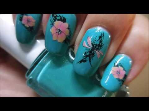 Essie Viva Antigua! With Flower Water Decals