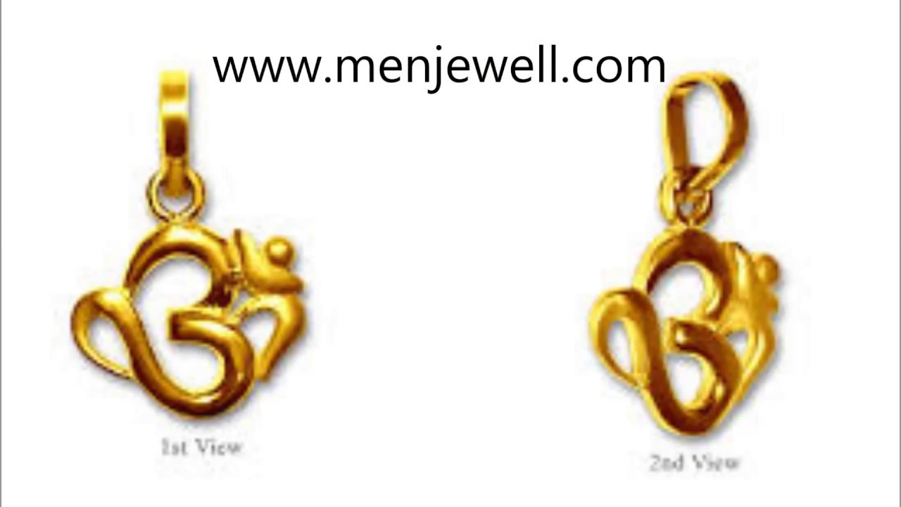 Latest jewellery design mens om lockets for men by menjewell com