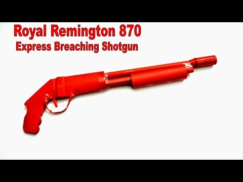 How to make a paper gun - Remington - DIY