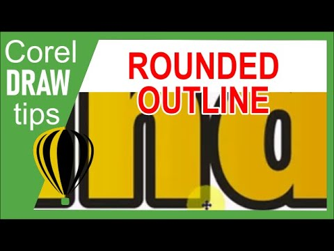 how to make an outline in coreldraw