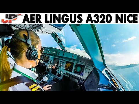 Piloting Airbus A320 Out Of Nice   Cockpit Views