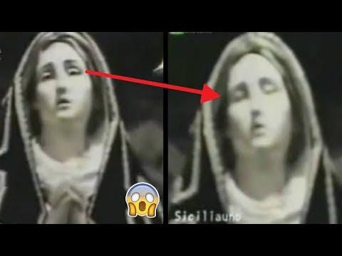 5 Estatuas de la Virgen Movi�ndose Captadas en V�deo