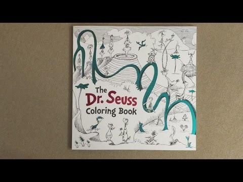 The Dr. Seuss Coloring Book flip through - YouTube