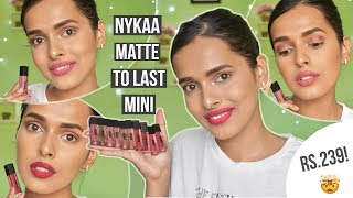 ₹239 Nykaa Matte To Last Mini Liquid Lipsticks-Review and Swatches   All 10 Shades