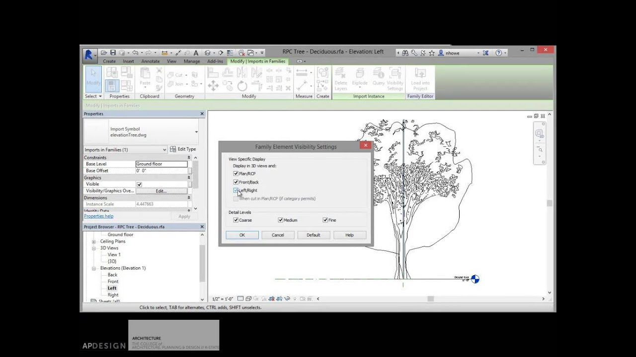 Creating Good Trees in Revit 2015
