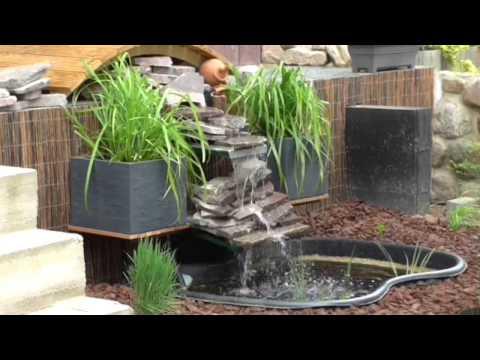 Bachlauf mit steinen in beton doovi for Teichanlage selber bauen