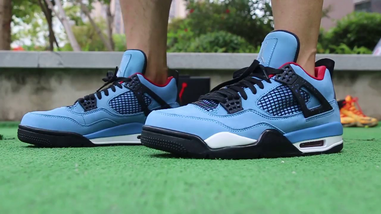 5be1f9abeac32e Travis Scott x Air Jordan 4 Cactus Jack on foot Review - YouTube