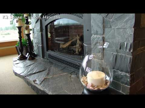 Fireplace Hearth Designs Using K2's natural stone