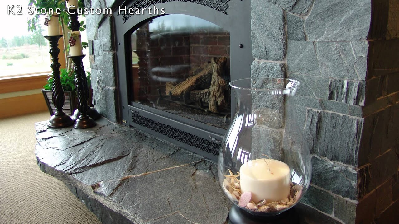 fireplace hearth designs using k2's natural stone - youtube