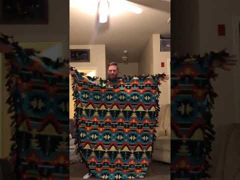 Beard guy living room dance blanket