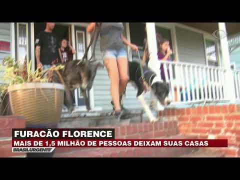 Furacão Florence deixa população em alerta nos EUA