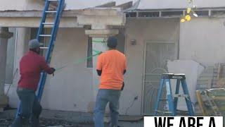 Vlog #14: Destroying part of a House / Demolishing a Covered Patio in Henderson Nevada