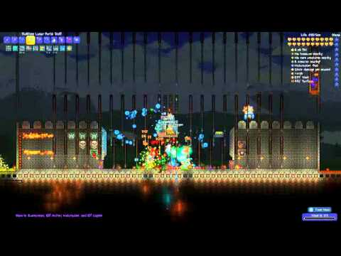 Terraria 1 3 Frost Pumpkin Moon Arena Youtube