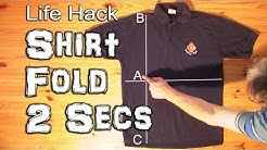 How to Fold a Shirt in Under 2 Seconds