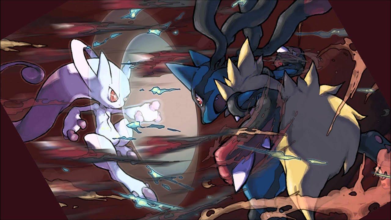 Pokemon Mega Mewtwo Y Vs. Mega Lucario - YouTube