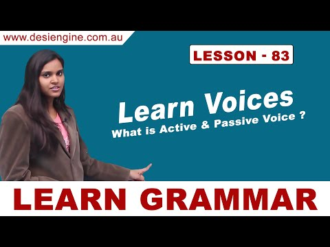 Lesson - 83 What is Active & Passive Voice ? | Learn English Grammar | Desi Engine India