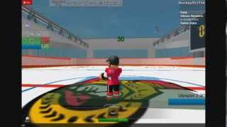 Roblox Hockey (How to be goalie)