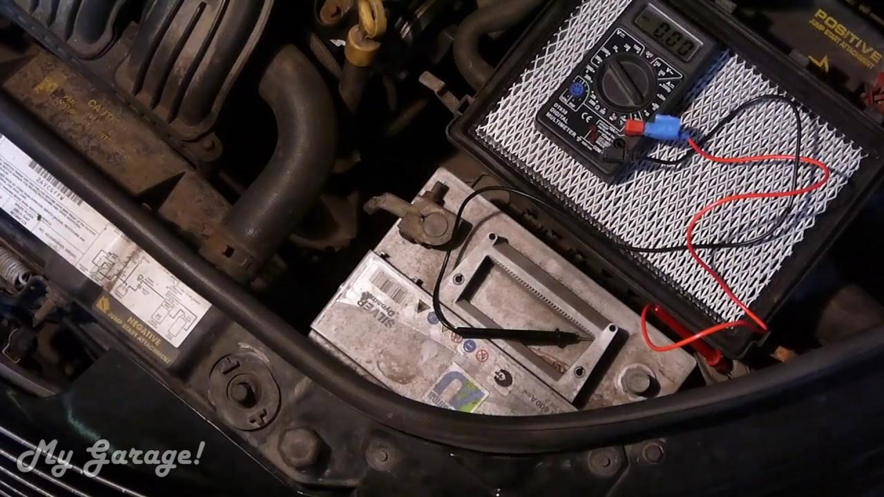 00.  Как проверить утечку тока в автомобиле.  На примере: Chrysler PT Cruiser 2000-2005.
