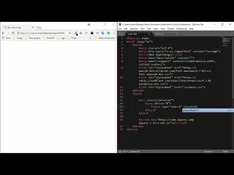 Creating search engine html and css